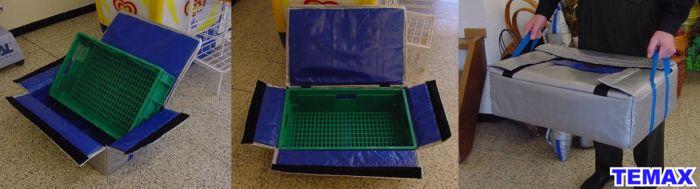 Krautz Temax Isolierte Klappboxen - Insulated thermal folding crates - geïsoleerde klapboxen kratten - caise isotherme