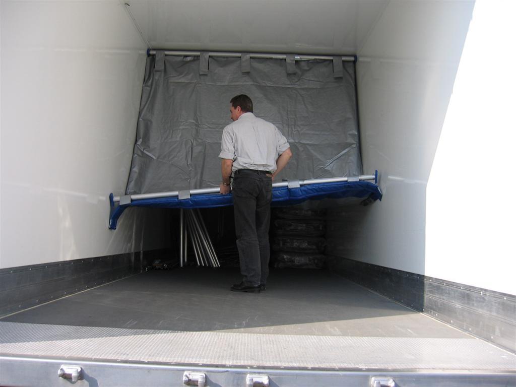 Krautz Temax hochklapbaren trennwand Fahrzeuge - Foldable partition wall trailer - Vouwbare scheidingswand oplegger trailer