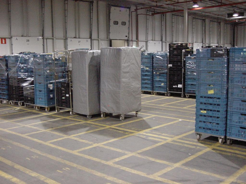 Krautz Temax thermohoes isolatiehoes rolcontainer vers koel diepvries supermarkt