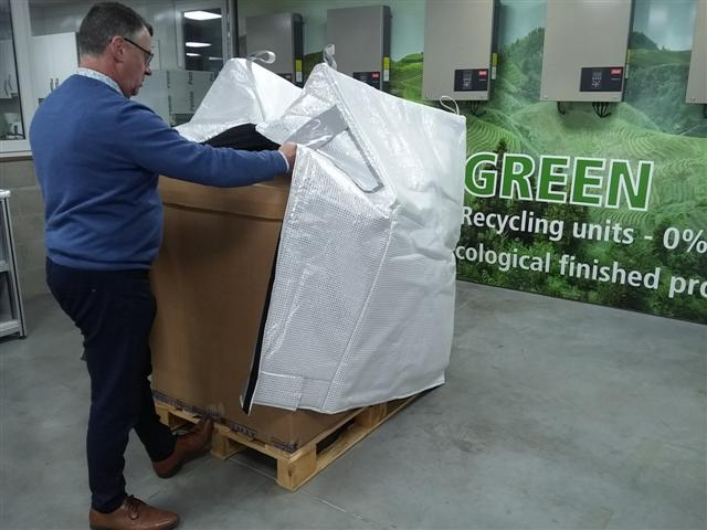 Krautz Temax housse isotherme isolant thermique pour Euro block palettes