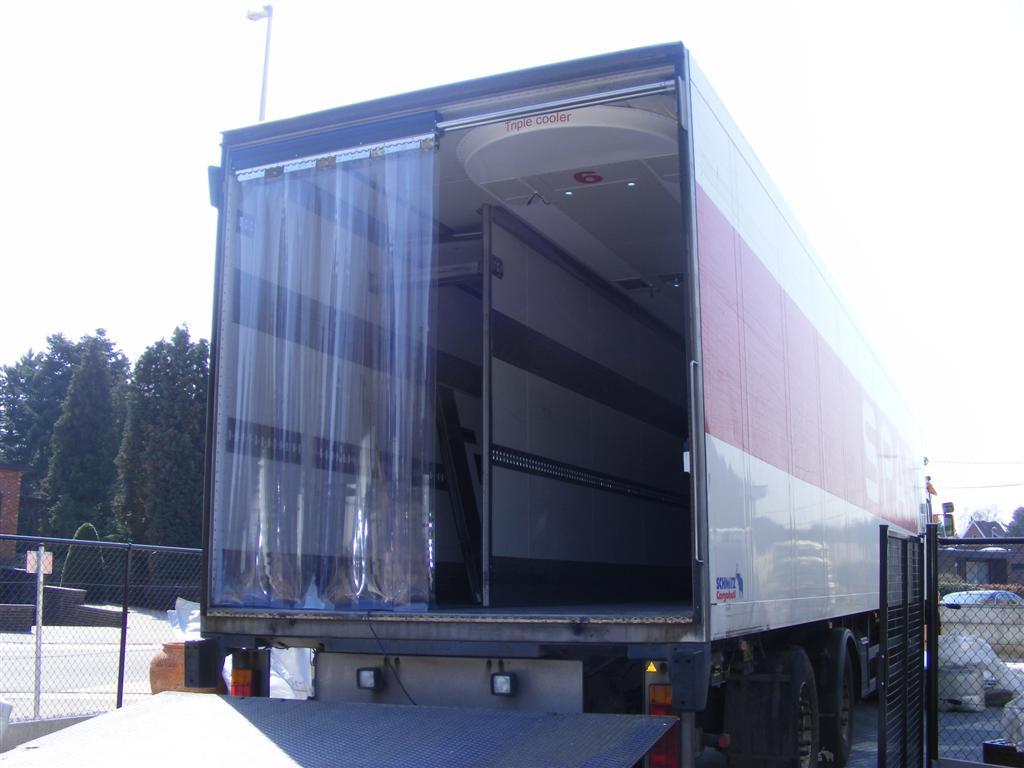 Krautz Temax strip door curtains trailer - strokengordijn oplegger vrachtwaqen - Streifenvorhang Auflieger LKW