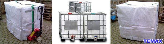 Krautz Temax IBC bulk container thermal cover - IIBC Behälter Thermohaube Isolierhaube - IBC container thermohoes - Conteneur IBC housse isotherme