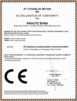 Krautz TEMAX product conformity CE certificate