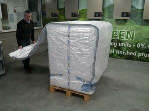 Krautz Temax thermohaube Isolierhaube Palette euro block PMC ULD frischwaren Ambients Pharmazeutika Lebensmitteln