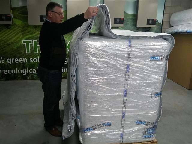 Krautz Temax thermal blankets fret aérien pharmaceutique palette euro block PMC ULD
