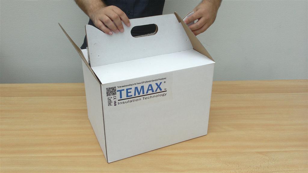 Krautz Temax box boîte carton isolée avec poignées