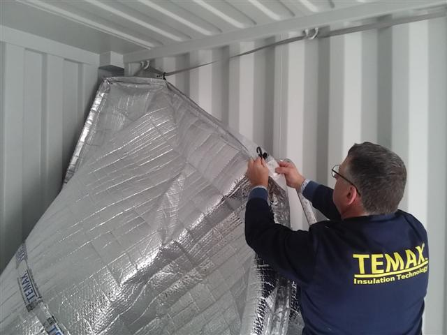 Krautz Temax isolation pour isoler conteneur fret maritime 20DV 40DV 40HC 45DV