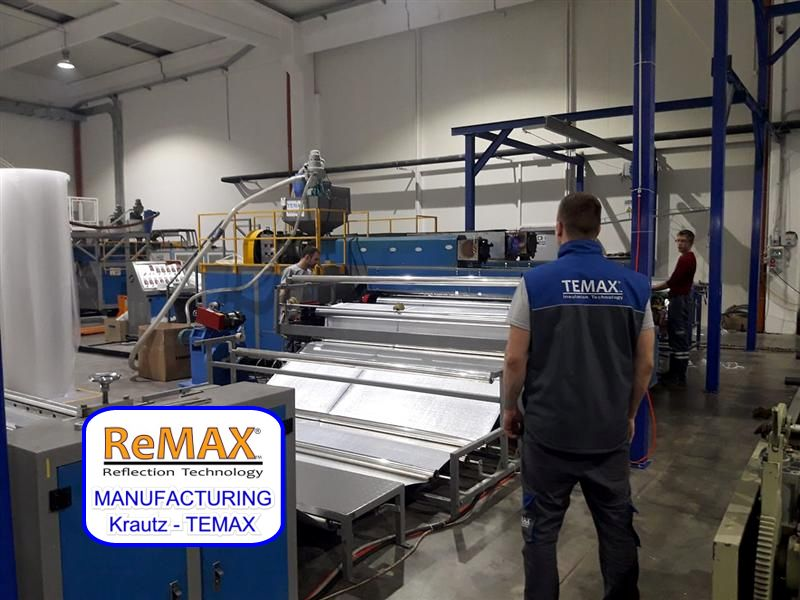 REMAX reflection air bubble foil manufacturing