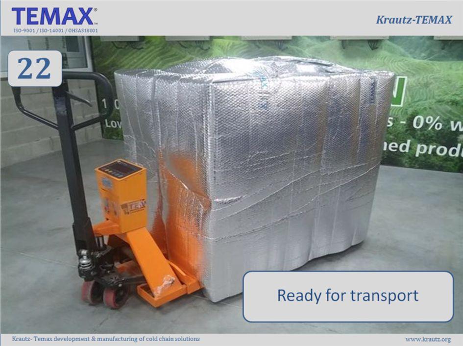REMAX thermohoezen thermohoes geïsoleerde hoes voor pallets en paletten