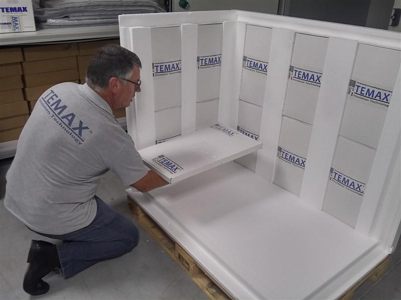 Temax EPS Polystyreen palletbox pallet shipper farmaceutica en voeding