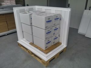 TEMAX EPS palettebox Behälter Pharmazeutika Transport Temperaturschutz