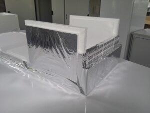 Temax Styropor box für Frischwaren Tiefkühlwaren im Transport