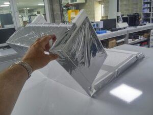 TEMAX vouwbare EPS piepschuim dozen doos opvouwbaar voor minimale opslag en stockage ruimte